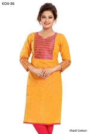 Cotton Embroidered Kurti women very decent and stylish
