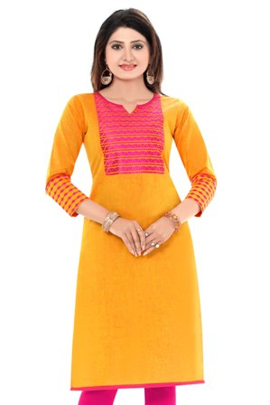 Cotton Embroidered Kurti women very decent and stylish.Women/girls kurta, a stylish casual top with long sleeves blended with decent embroidery